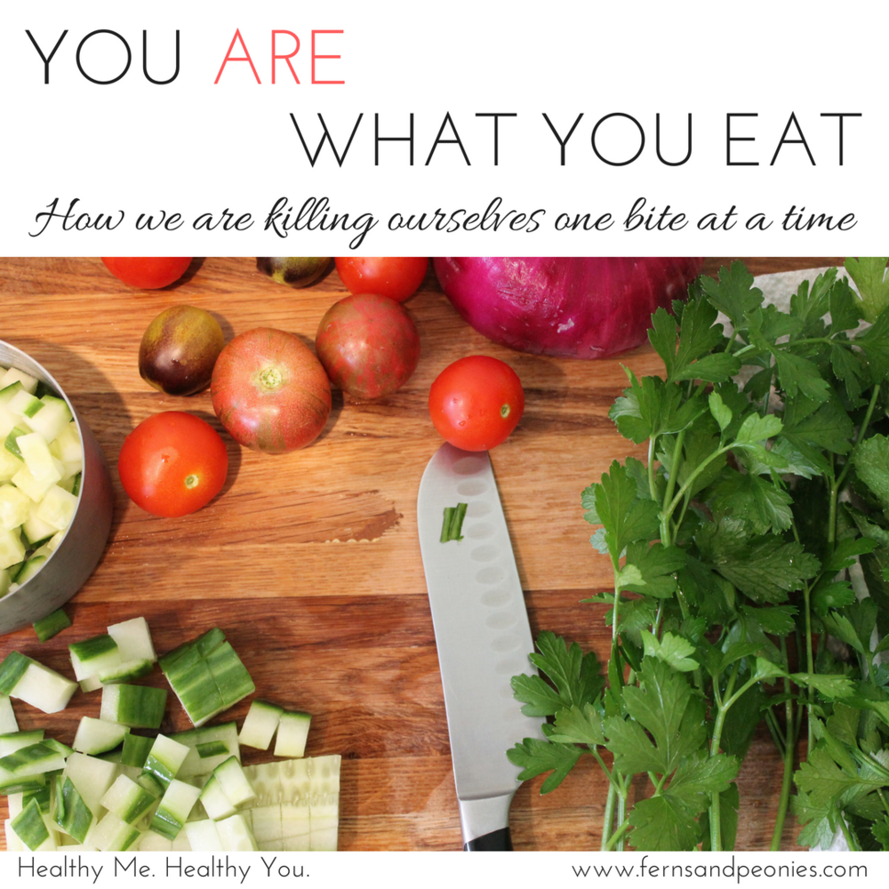 You really are what you eat. It's a simple concept and easy to grasp—what we put into our bodies directly affects our health. Find out why on this weeks blog at www.fernsandpeonies.com.