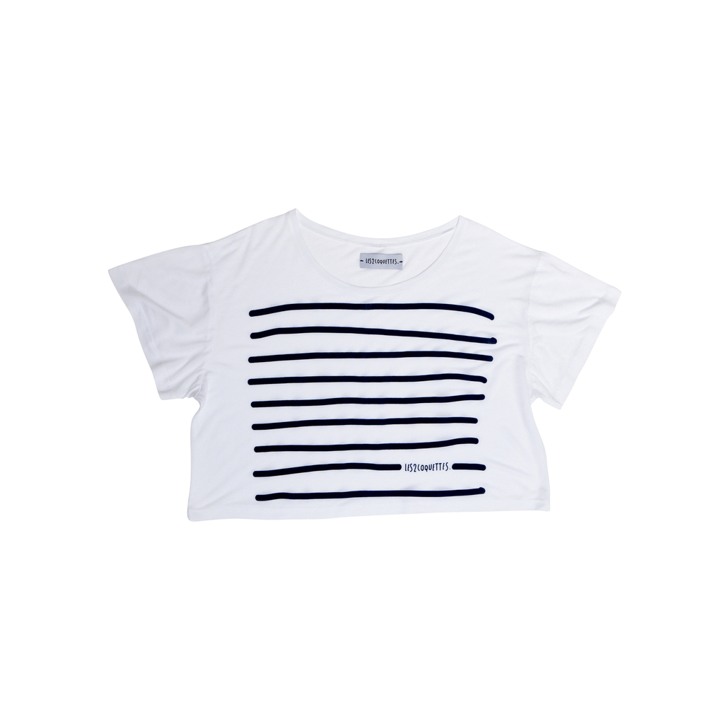 STRIPY TEE CROPPED