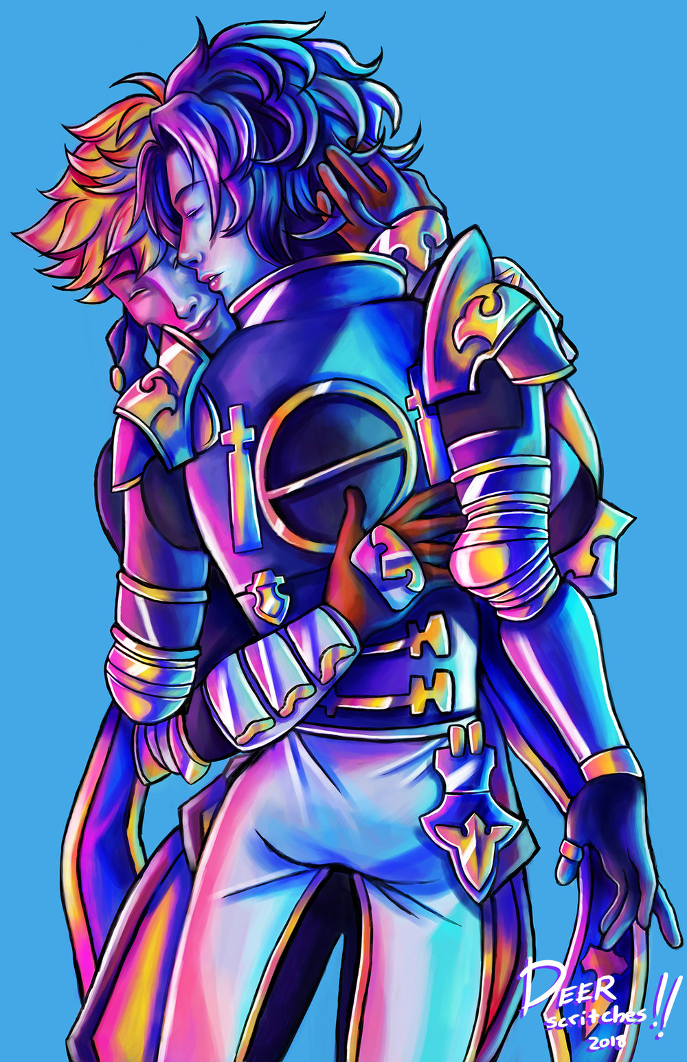 granblue fantasy vane and lancelot print