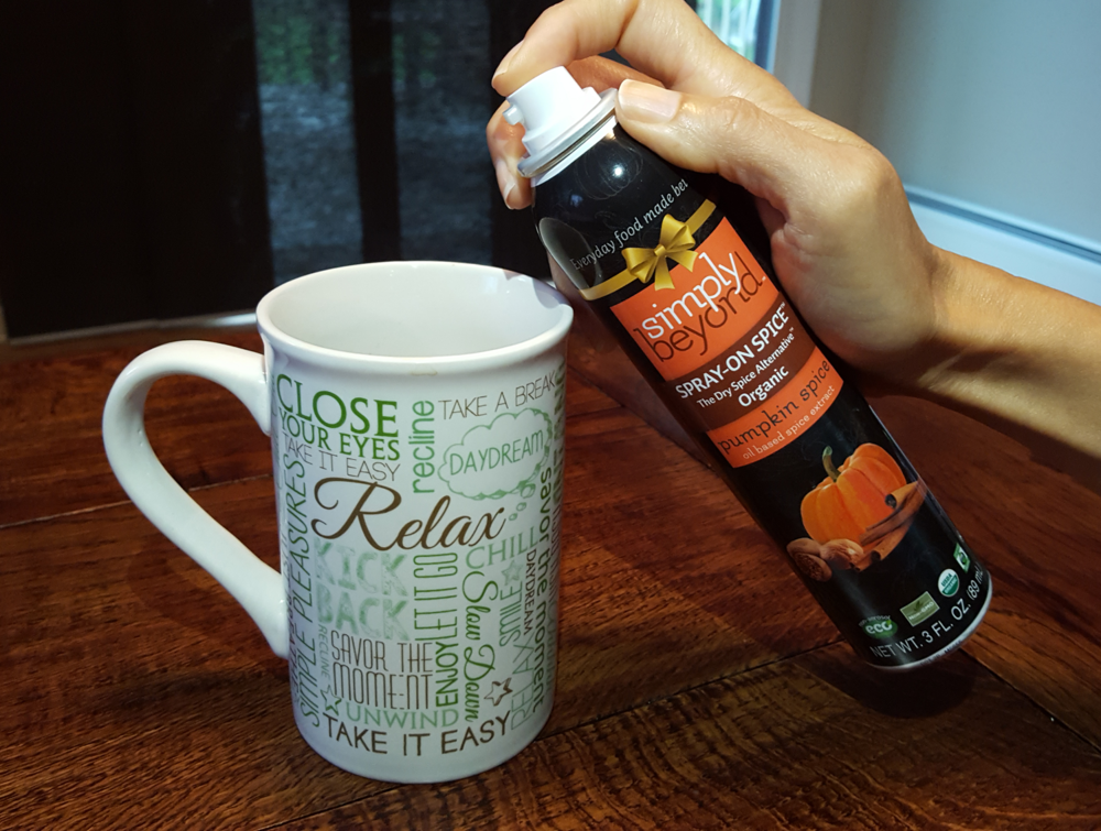 Spray it in your coffee for an amazing Pumpkin Spice taste and aroma!