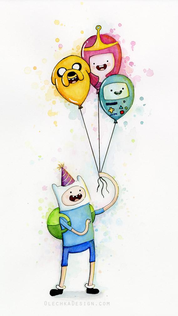 Finn with Birthday Balloons
