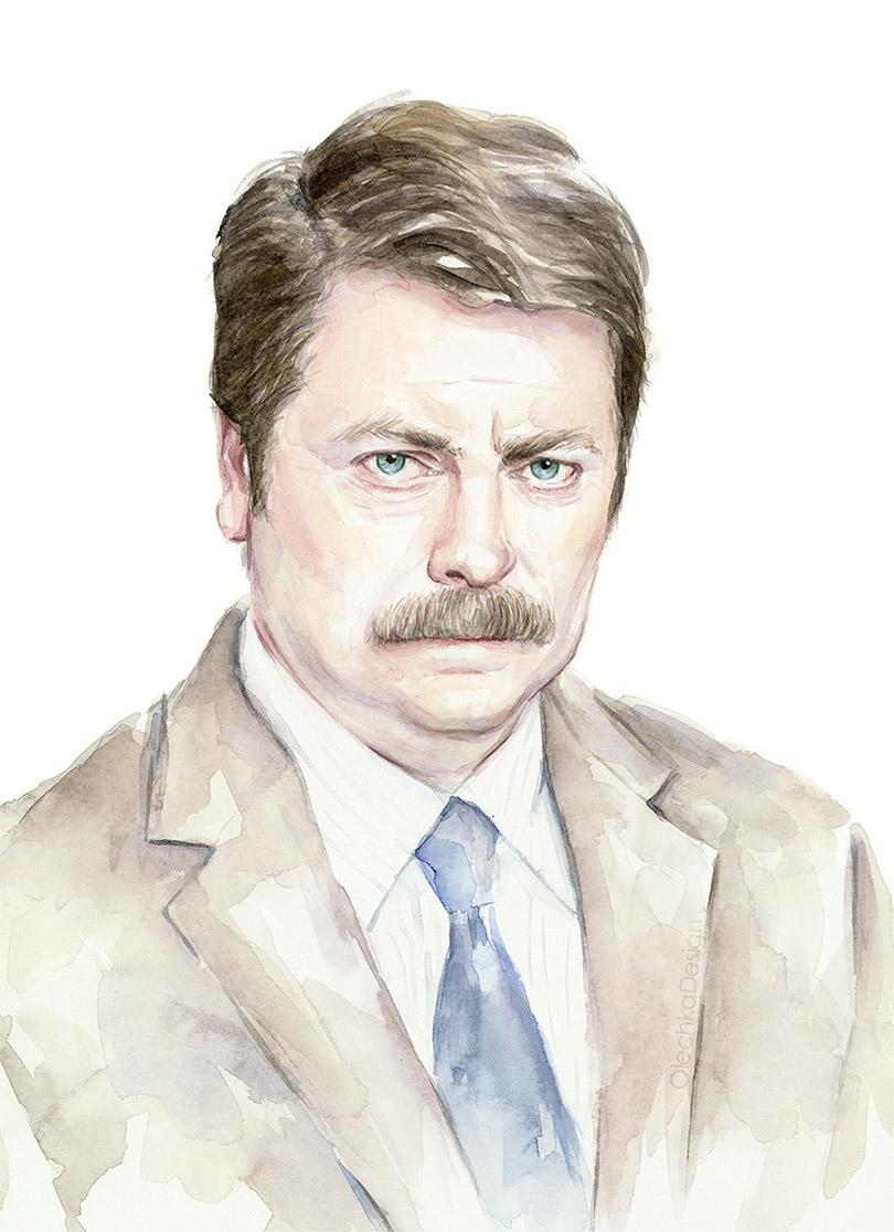 ron-swanson-watercolor-portrait.jpg