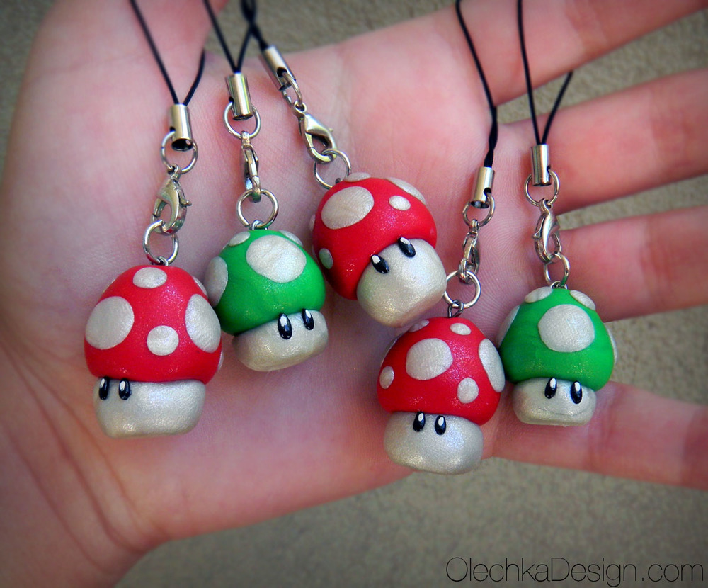 super mario red green mushroom charm.jpg
