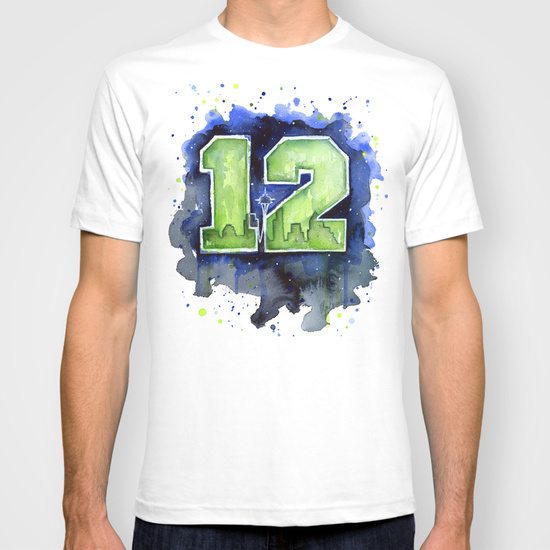 go hawks shirt watercolor