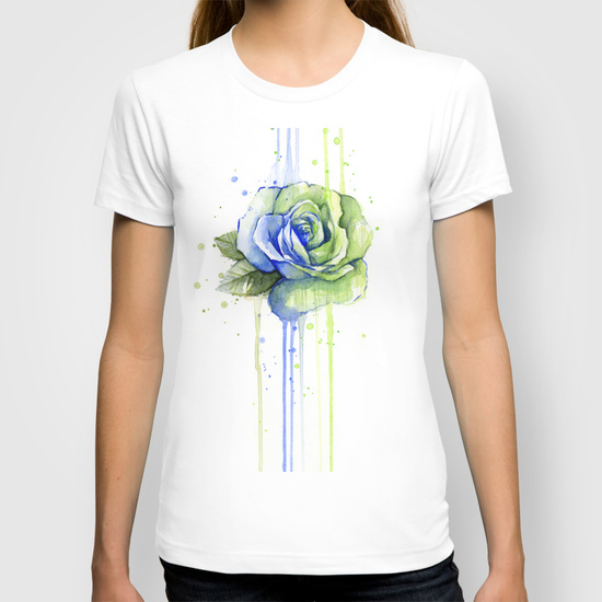 12th man rose shirt watercolor