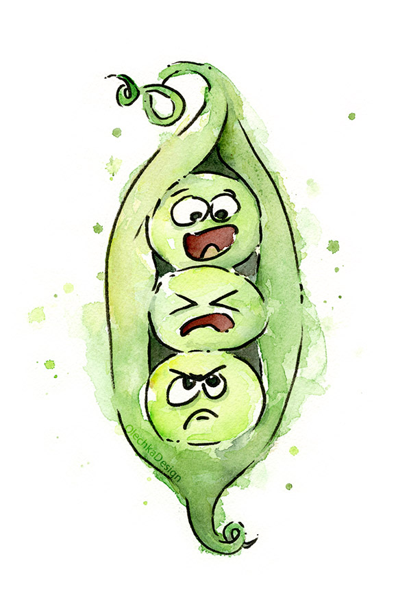 three peas in a pod art