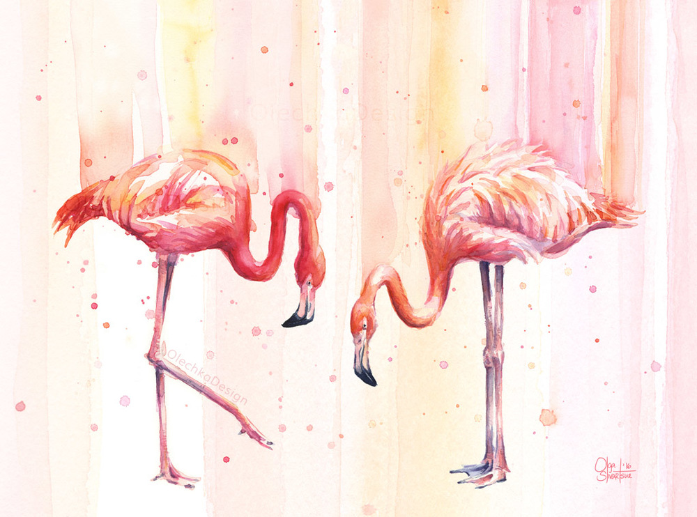 Flamingos-two-Pink-Flamingo-Rain-watercolor-OlechkaDesign.jpg