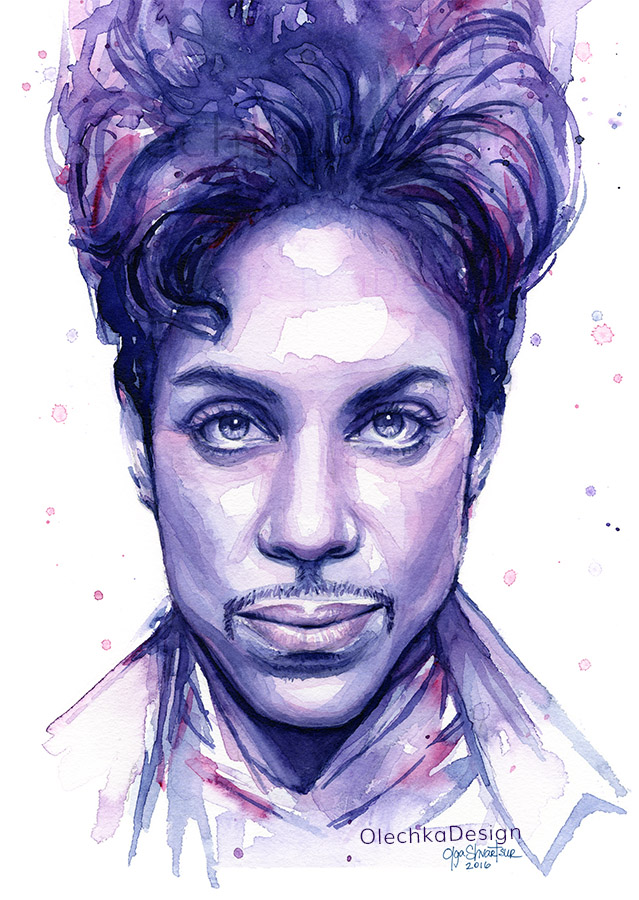 Prince watercolor portrait.