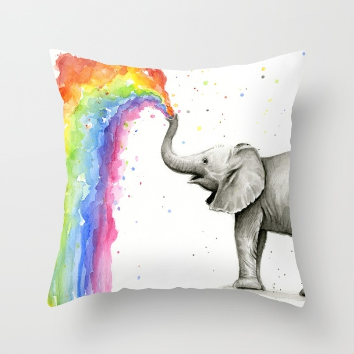 Baby Elephant Pillow - perfect for nursery!