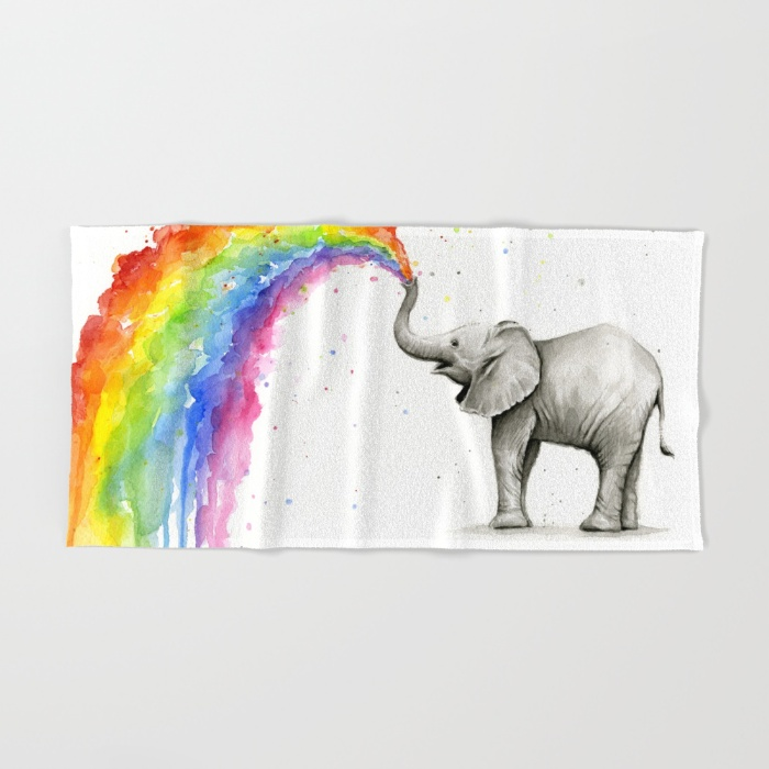 Baby Elephant Bath Towel