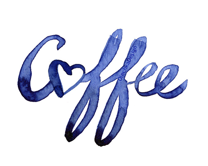 coffee art typography