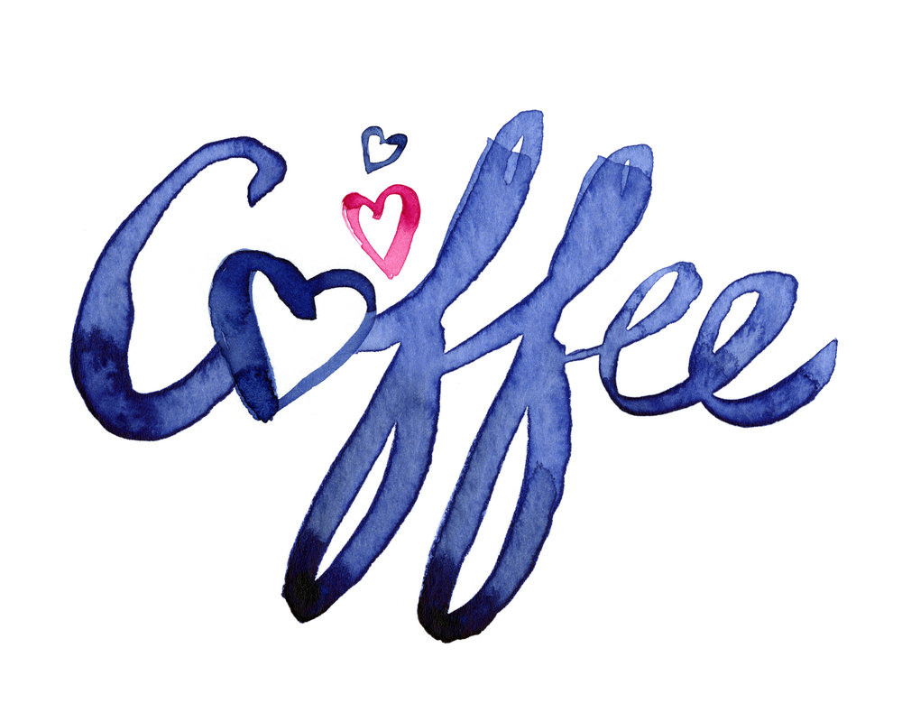 coffee love watercolor