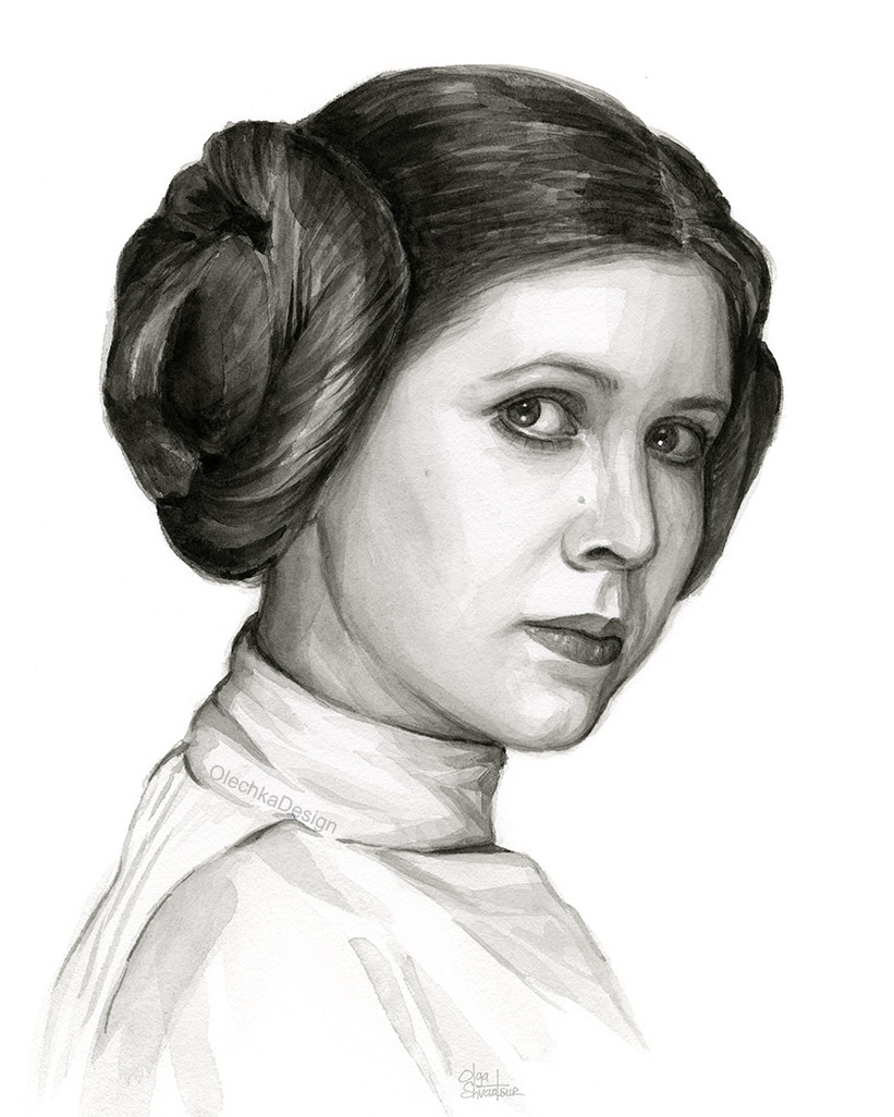 Princess Leia portrait