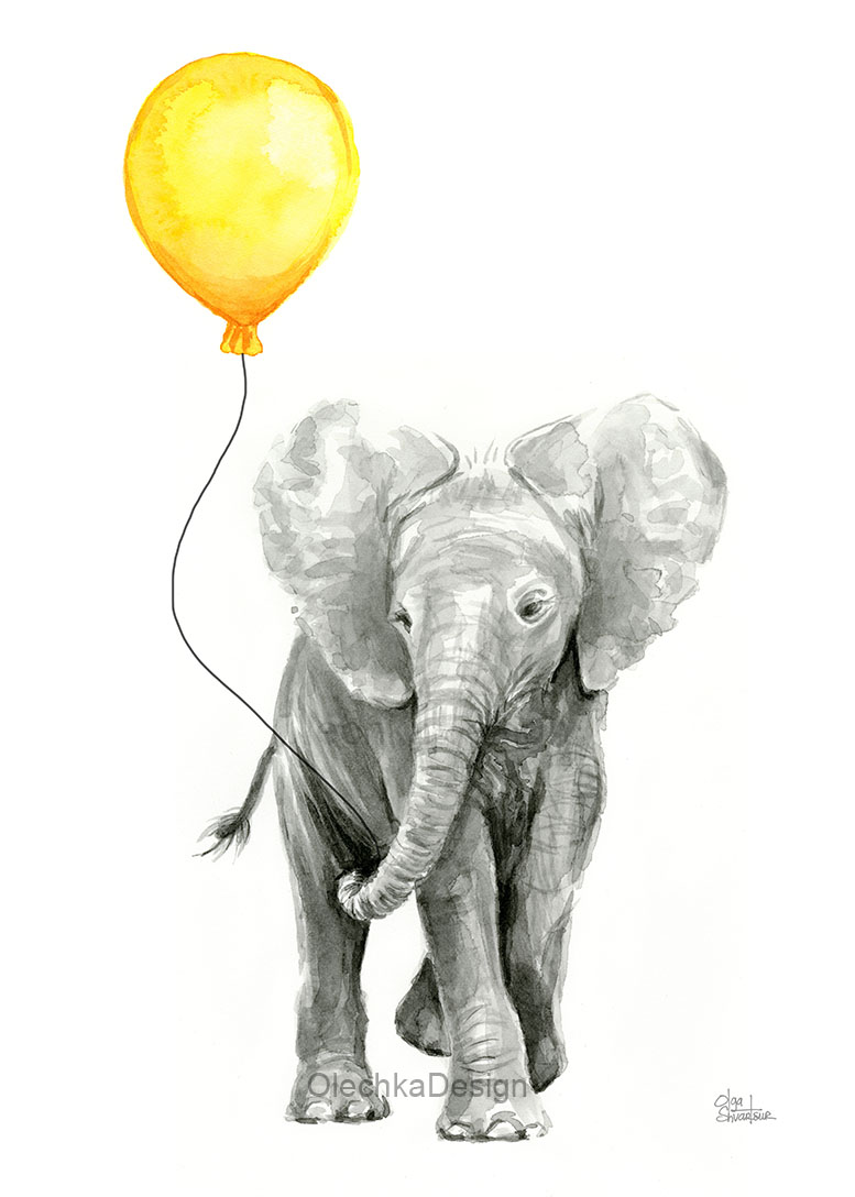 Elephant-baby-yellow-Baloon-nursery-animals.jpg