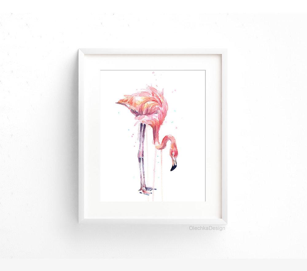 flamingo-eating-drinking-watercolor-framed.jpg