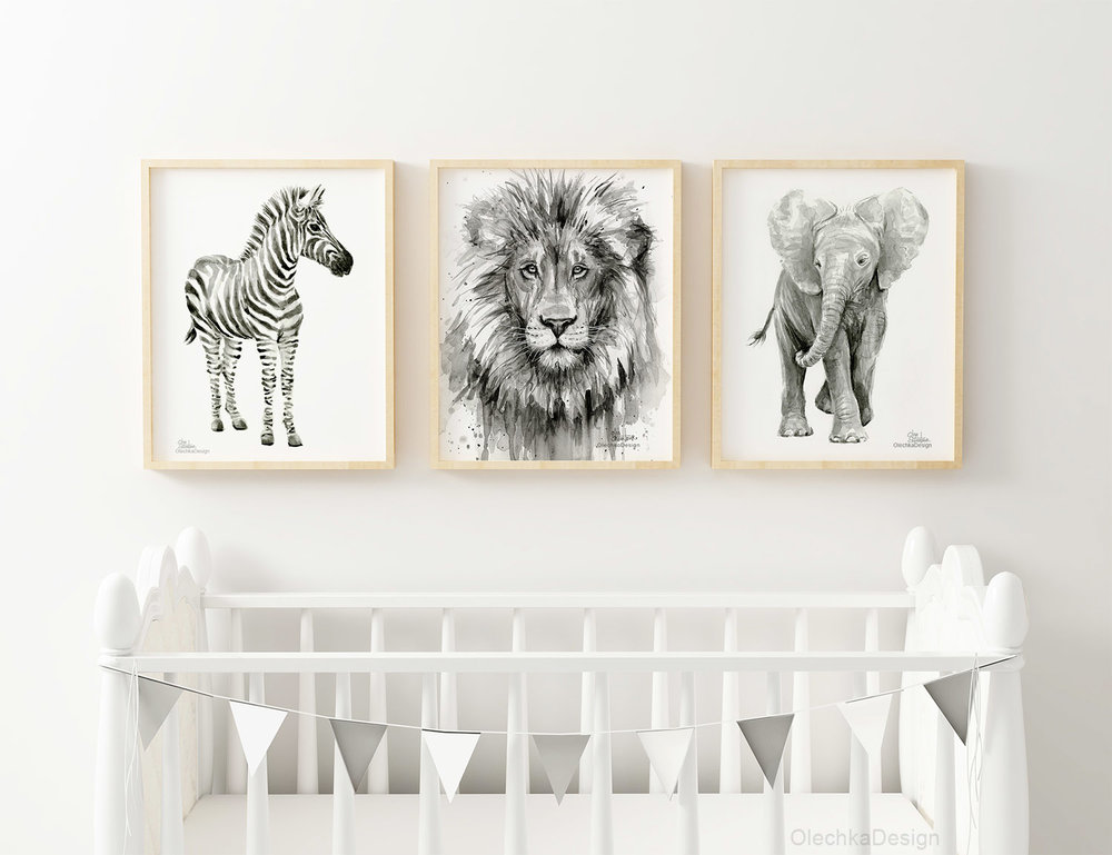 Nursery Art Prints-Olechka Design