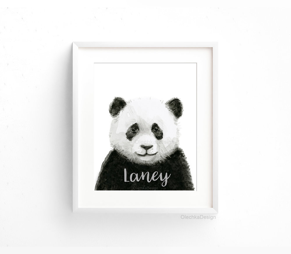 customized-art-print-nursery-panda-watercolor