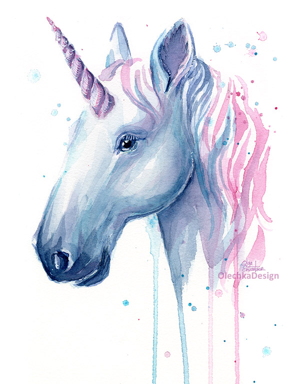 unicorn pink blue