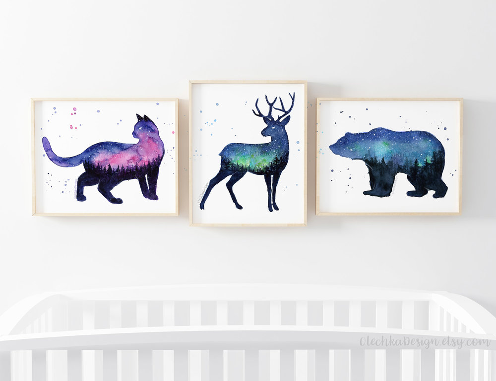 Galaxy-forest-animals-prints.jpg