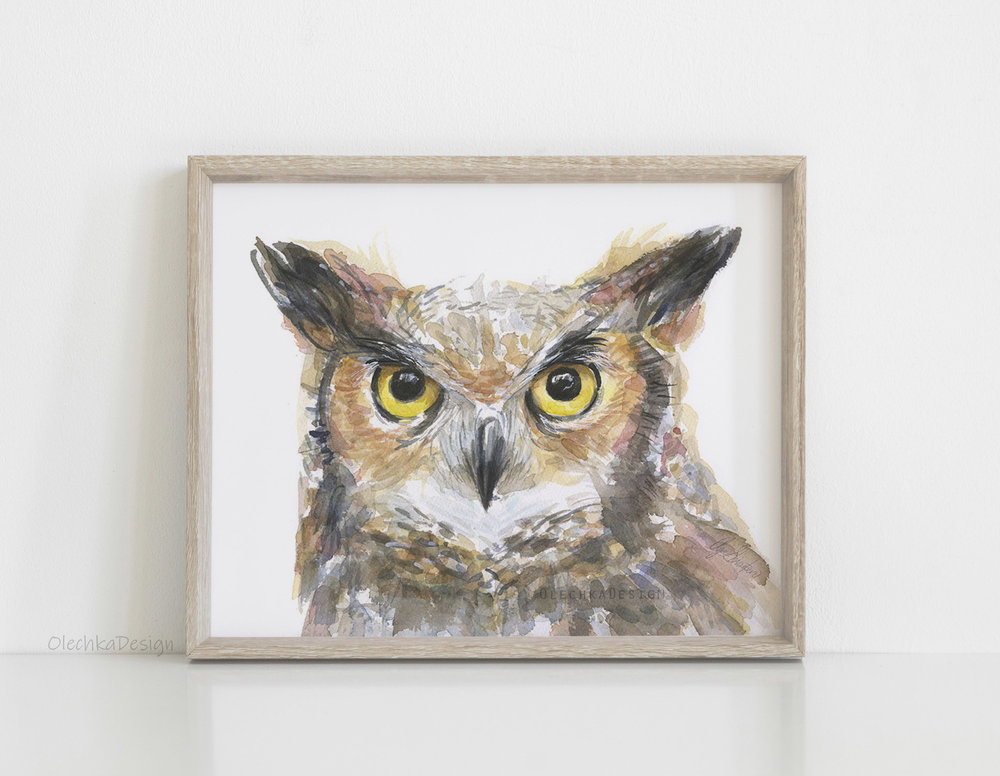 owl art great horned