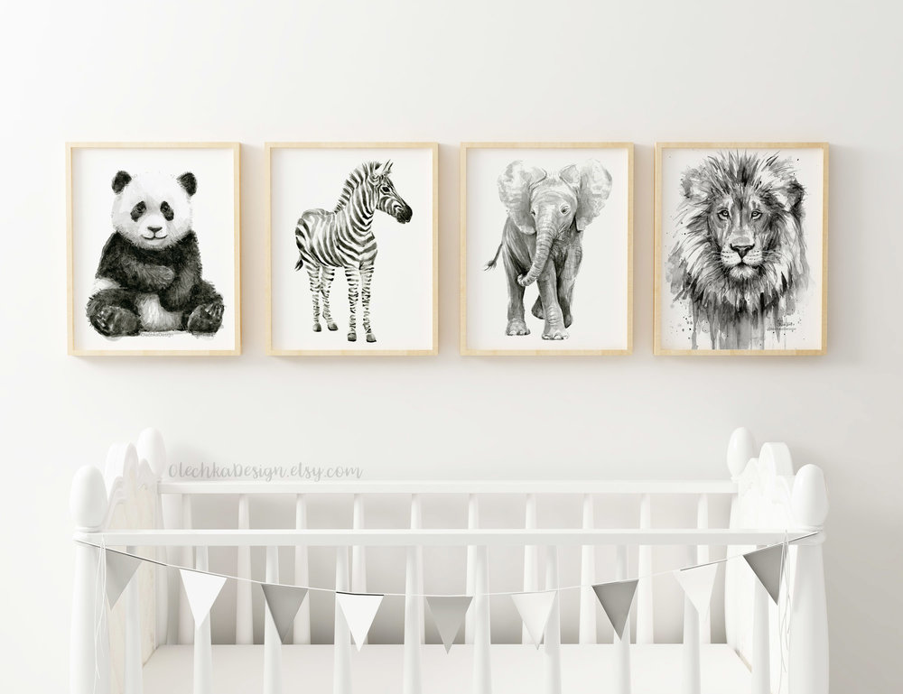 nursery animals wall art