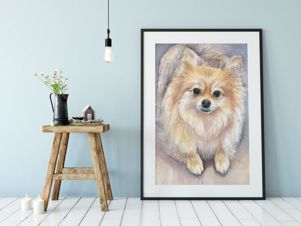 Pomeranian wall art