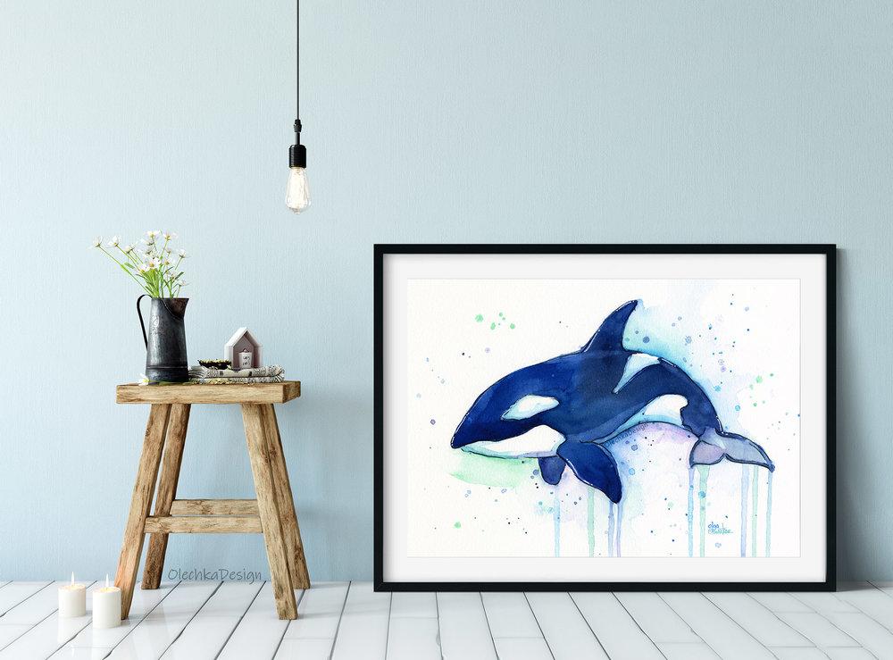 orca wall art