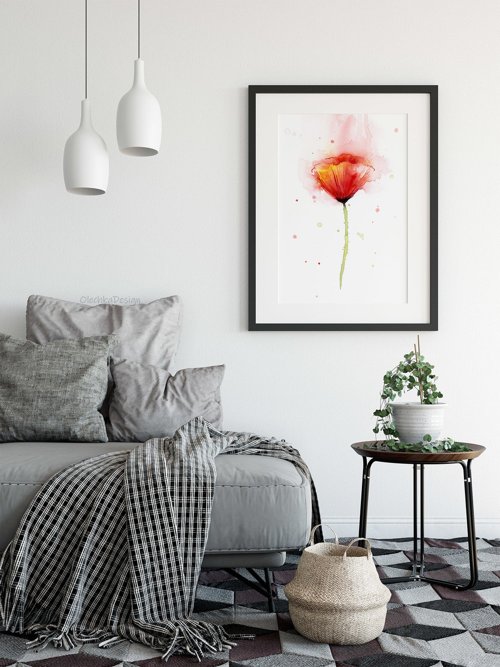 floral watercolor art