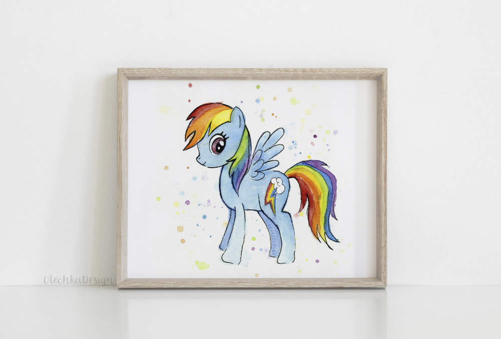 rainbow dash wall art
