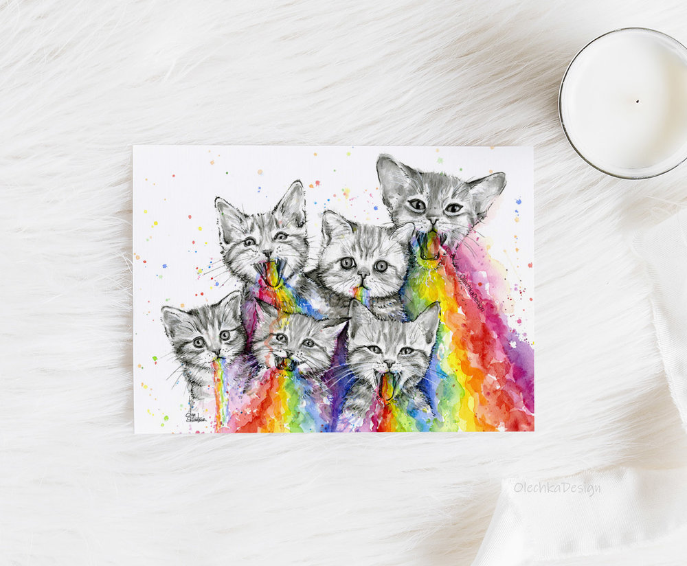 rainbow vomit kittens
