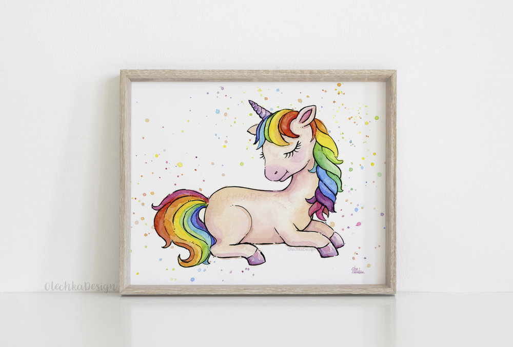 sleeping unicorn art