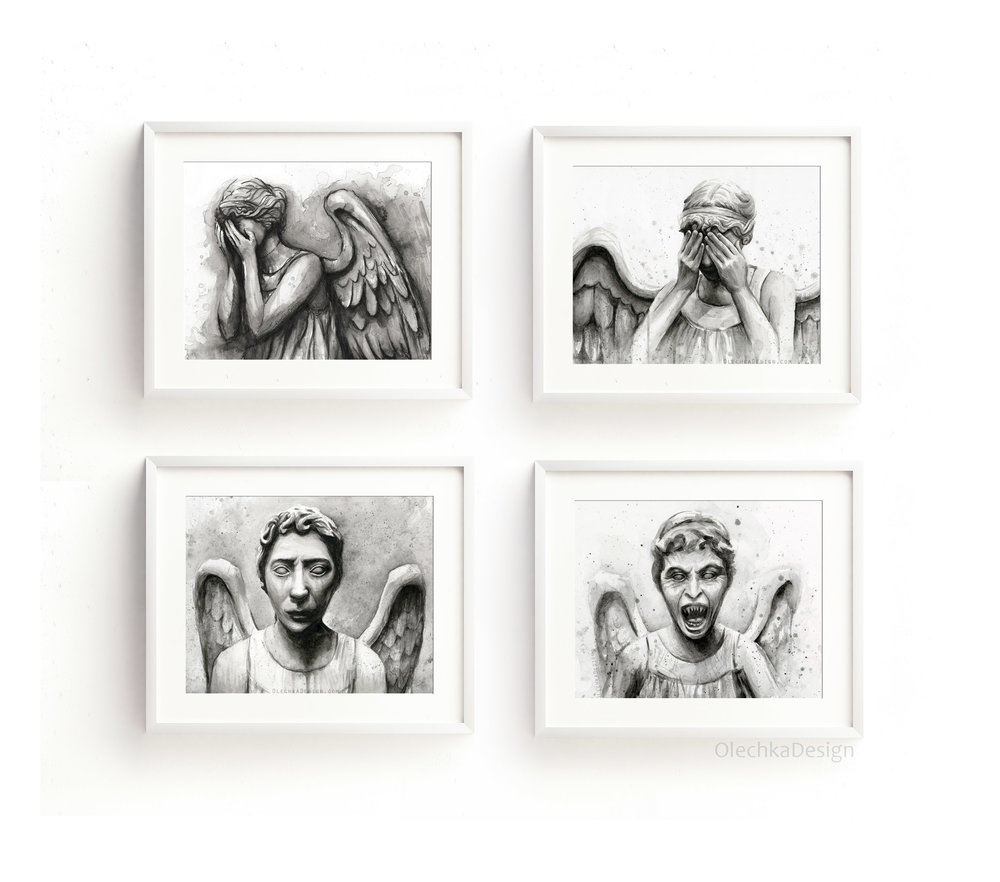 weeping angels art
