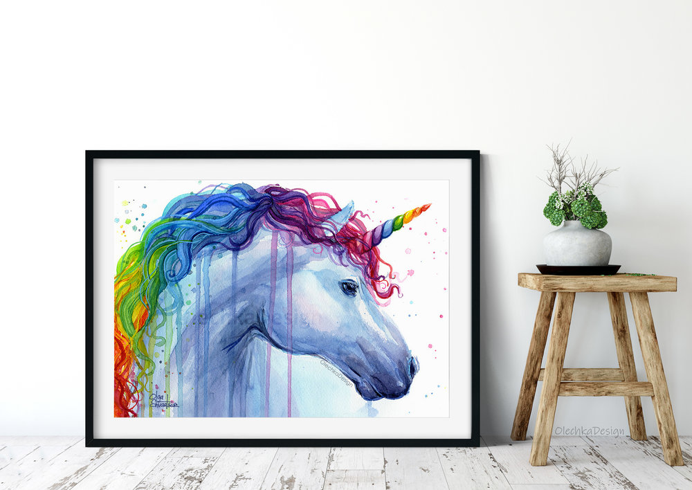 rainbow unicorn art