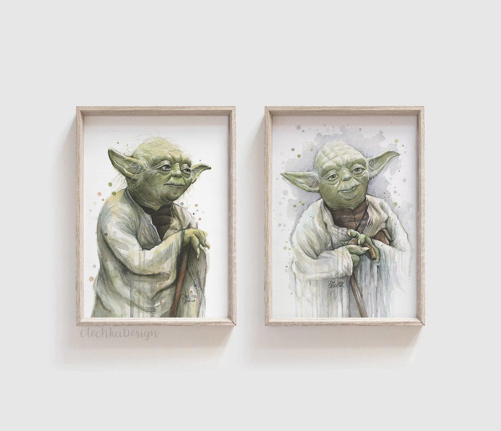 yoda wall art