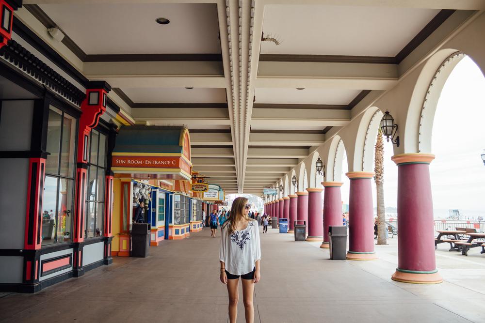 Micaela McLaughlin at the Santa Cruz Boardwalk by Catherine Alyce