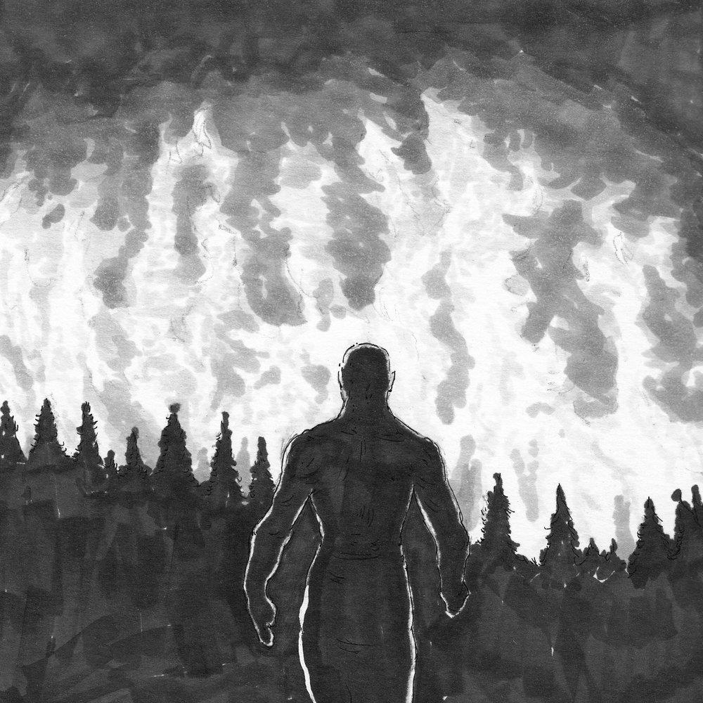 Walk toward the fire.