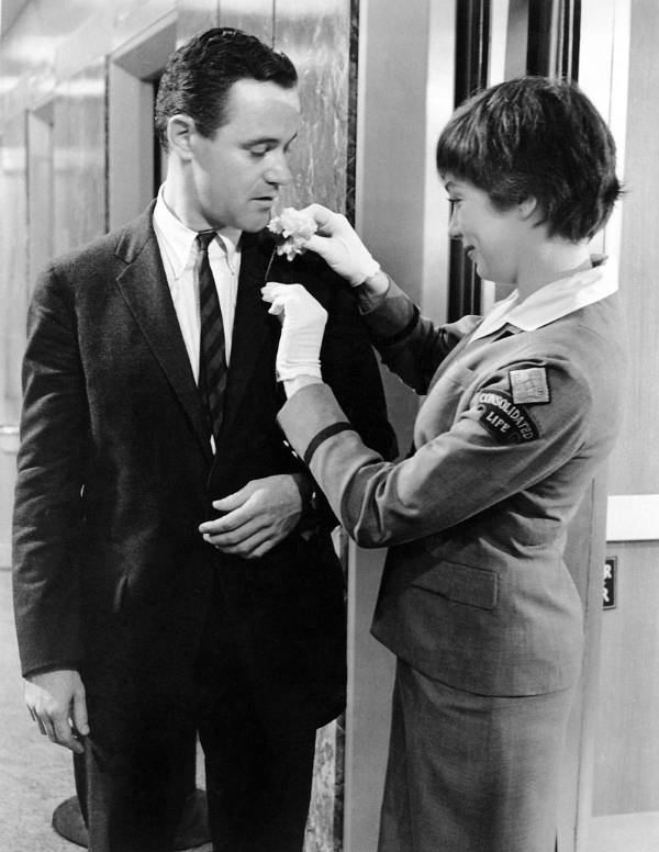 Jack Lemmon with Shirley MacLaine in The Apartment (1960,Billy Wilder director)