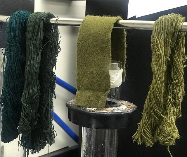 St. Patty's Day has us seeing green.  #verticalmill #wool #naturalfibers