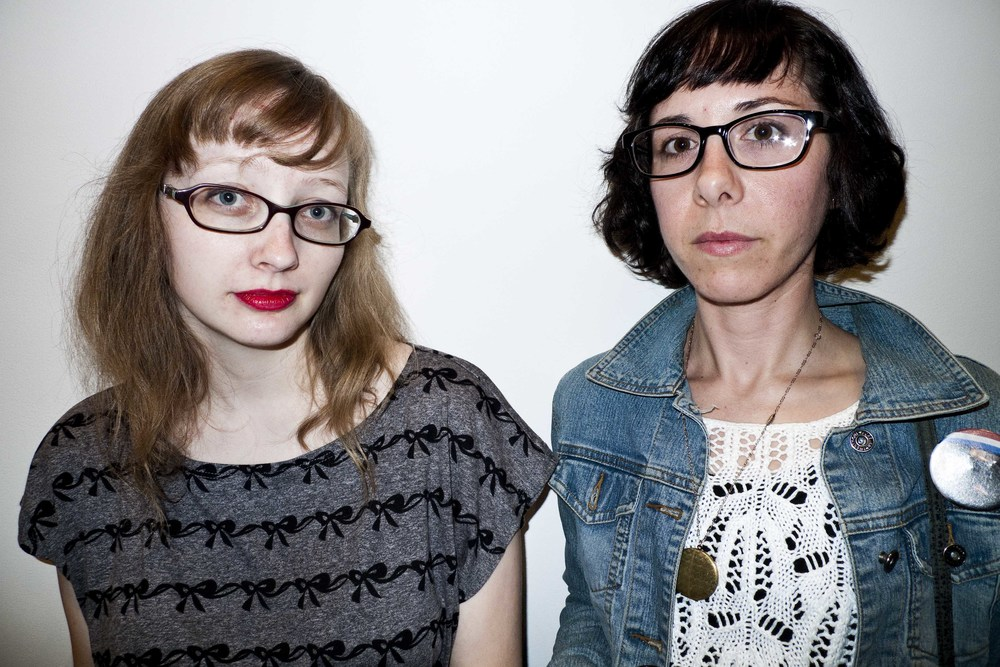 Girls at art opening hollywood 2014