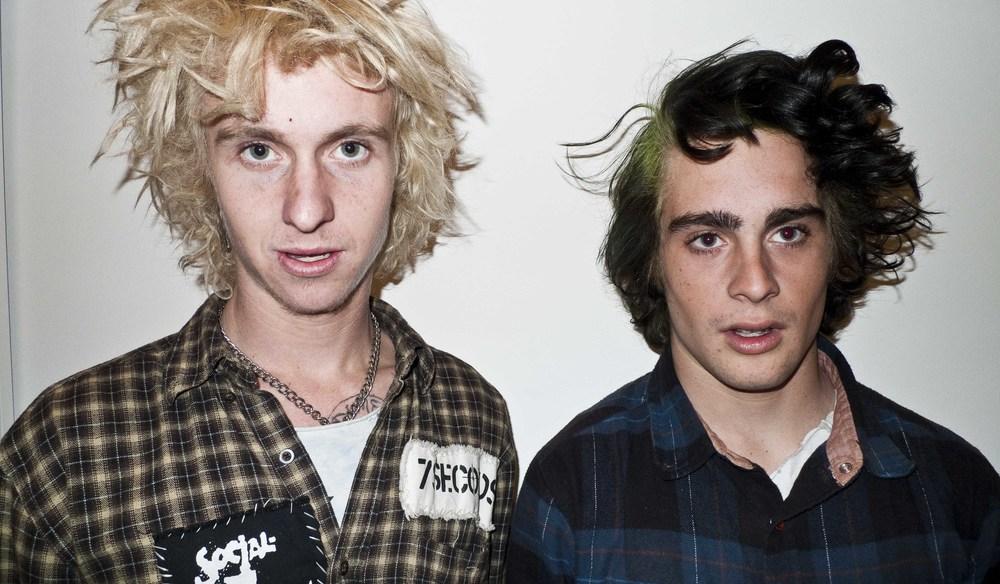 punk boys, LA art opening,2012