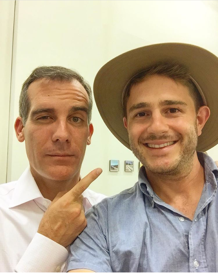 With Mayor Garcetti, whose initiative to cool down Los Angeles I absolutely love!