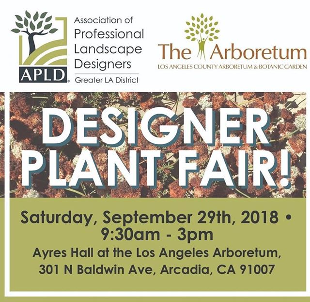 We are stoked to be a part of this weekend's @apldca designer plant fair! We will be there at a table with @compostteanas representing eco-conscious landscape maintenance! There will be a ton of talk and examples of new plants on the market. It'll be a celebration of plants and the people who love plants in Los Angeles! Link for tickets to the fair is in our bio. See you there!