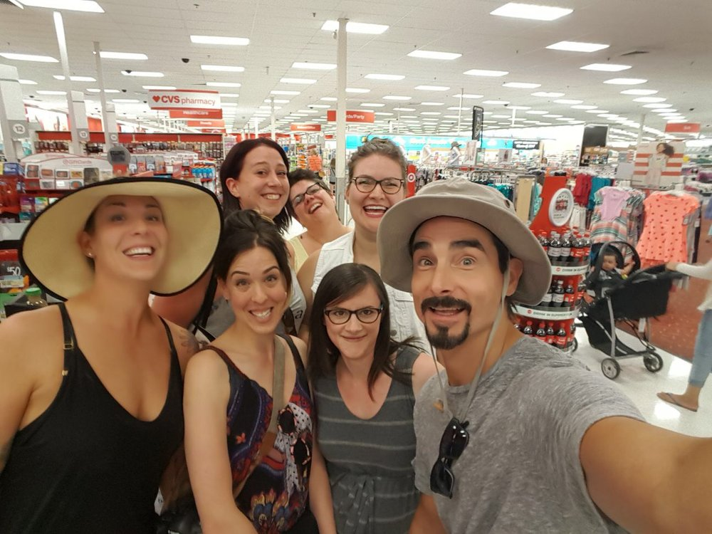 Yes. That is Kevin from The Backstreet Boys, and yes, we are in a Target.