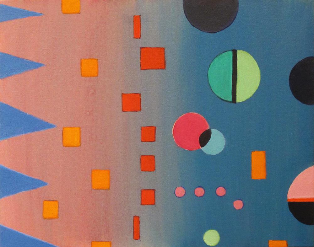 "Calliope, 2014, acrylic on canvas, 16 x 20"""