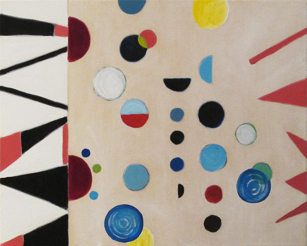 "Iris, 2014, acrylic on canvas, 16 x 20"""