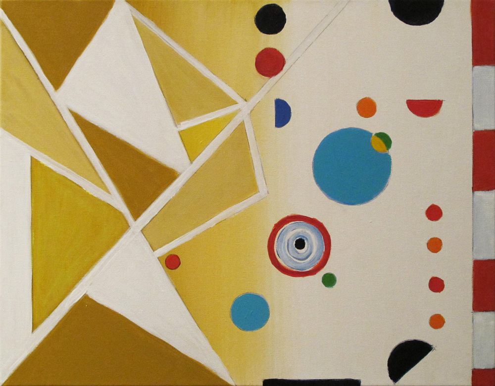 """Eos, 2014, acrylic on canvas, 16 x 20"""""""