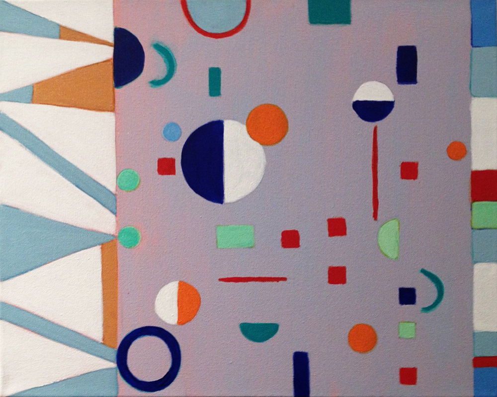 """Random Objects, 2014, acrylic on canvas, 16 x 20"""""""