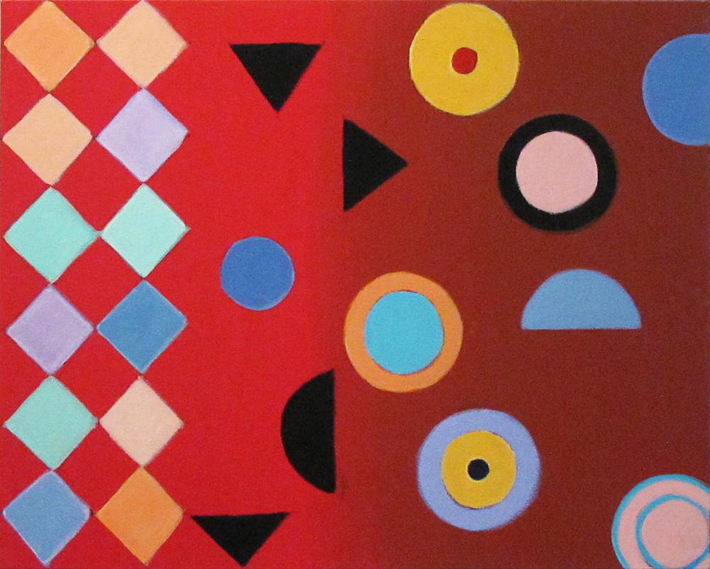 """Fluid, 2015, acrylic on canvas, 24 x 30"""""""