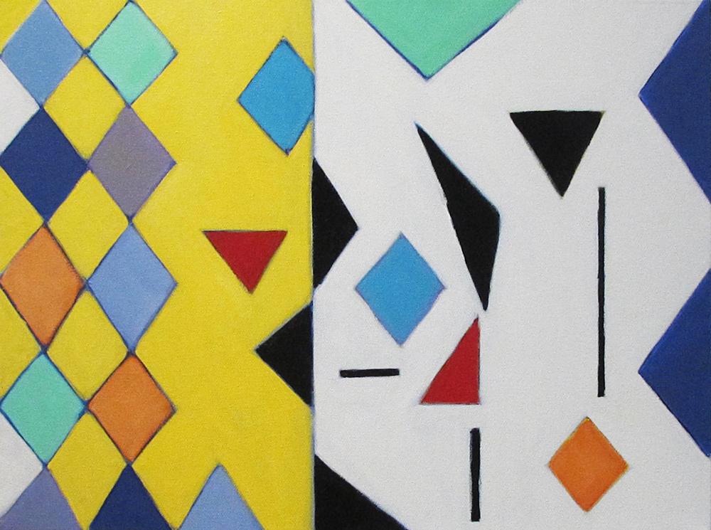 "Interrupt, 2015, acrylic on canvas, 18 x 15"""