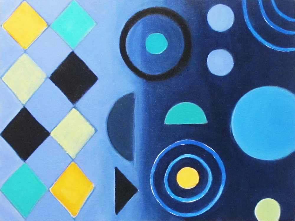 Night Rhythm, 2015, acrylic on canvas, 18 x 24""